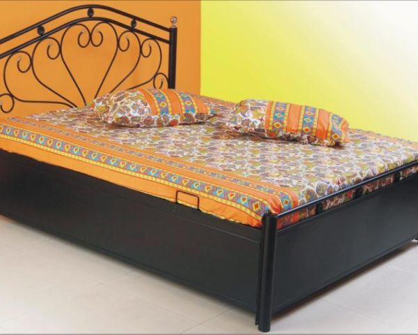 Want to buy 6x5ft storage bed with mattress new iron for Double bed diwan