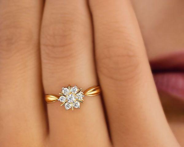 Tanishq Diamond Yellow Metal Ring With Price Jewelry Bangalore