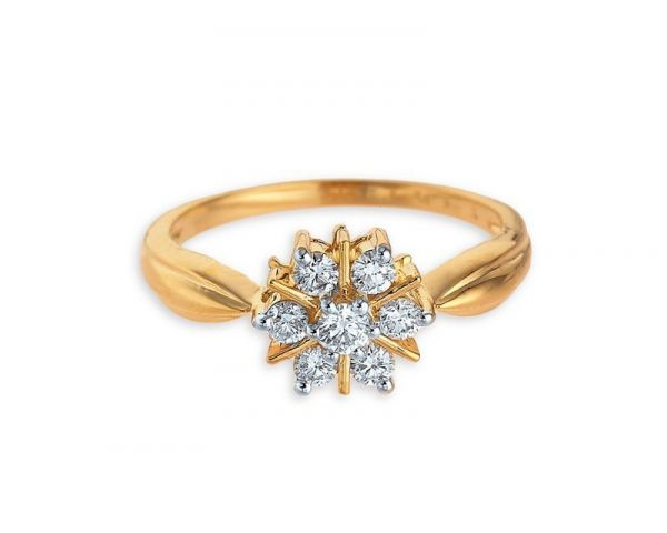 Tanishq Diamond Yellow Metal Ring With Price Jewelry Bangalore 133516608