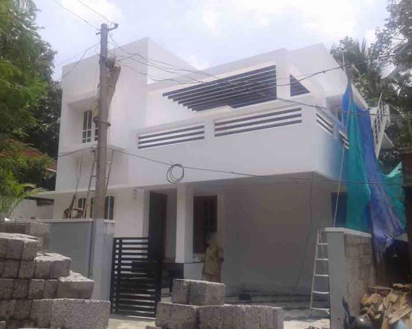 7500000 4 cents 1900sqf 3bhk 1 study new posh contemporary style house at 75 lakhs only by pradeep v nair