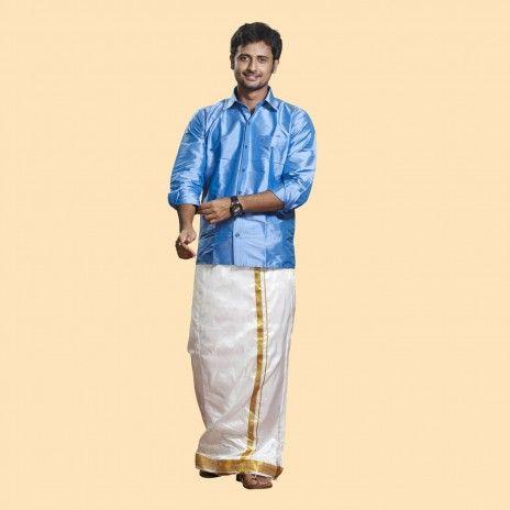 Rajavivaha online traditional wear shop for men kids for Mens silk shirts amazon