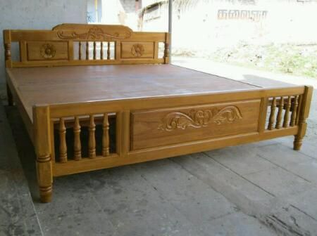 Woden King Size Cot In Factory Price Furniture Coimbatore