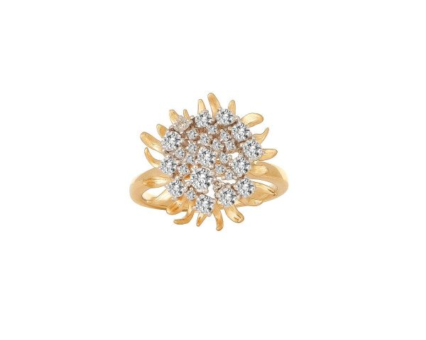 tanishq e curved p ring diamond rose rings spaced gold engagement halo c