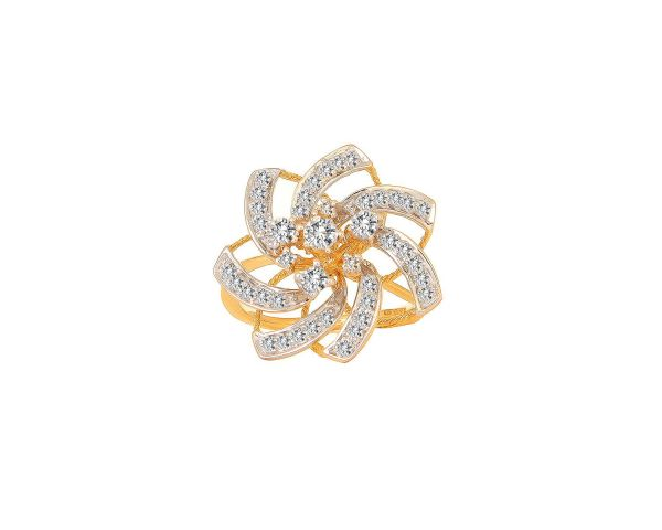 Tanishq Diamond Ring Floral White Metal Jewelry Connaught Place