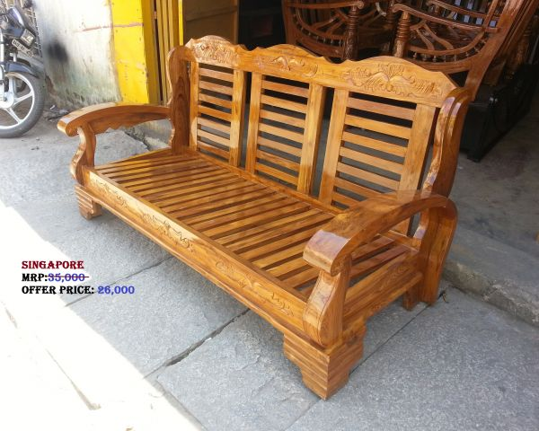 Teak wood sofa manufacturers furniture bangalore 135304472 for Buy furniture online bangalore