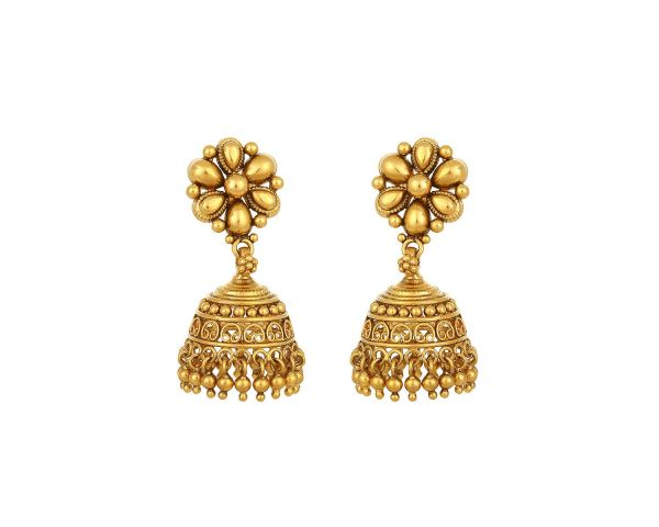 earrings design in gold at tanishq with price