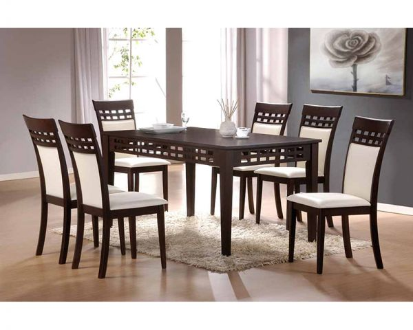 Contemporary Style Glass Top Dining Room Sets