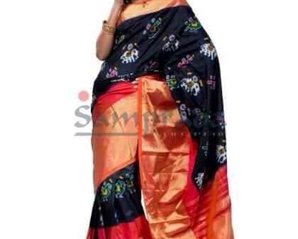 Pure Ikkat Pattu sarees are available at wholesale