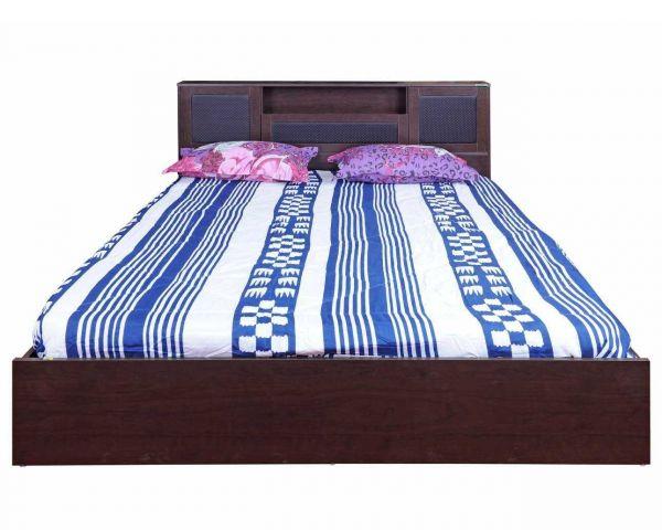 Zuari Bogoto King Size Bed With Storage Honey Finish, Brown ...