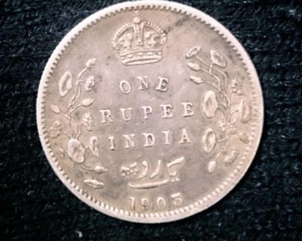 Old Coin Indian 1 Rupee 1903 Arts Antiques Delhi 140397188