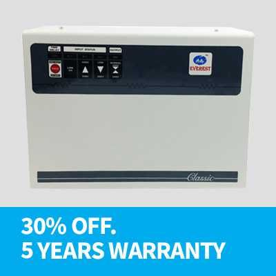 Everest EWD 500 Wide Range Double Booster 5 KVA Voltage Stabilizer Price