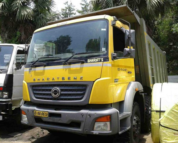 Auction of used Bharat Benz Truck & Tipper through auction on 10 8 17