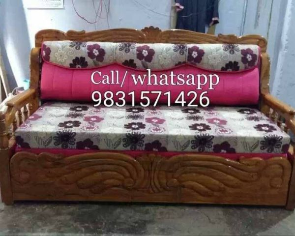Second Hand Wooden Sofa Bed Brokeasshome Com