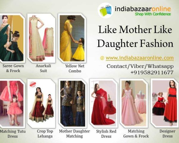 Buy Mother Daughter Dresses Indian Designers Collection For Clothing Delhi 144681978