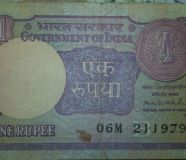 One rupee note sighned by Montak singh Ahluwalia...