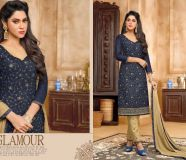 elegant kapil jhankar cotton embrodiered suits with...