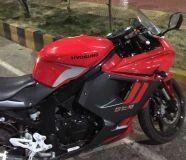 2015 Hyosung GTR250 Titanium Red.160440
