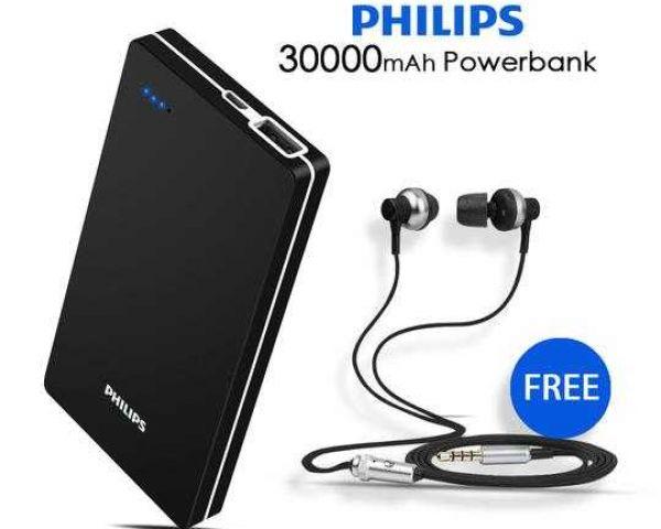 power bank 30000 mah  30000MAH PHILIPS POWER BANK WITH FREE EARPHONE Electronic ...