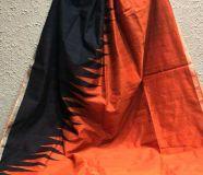 elegant silk blended drape sarees with running...