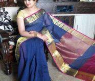 elegant kancheepuram soft silk with zari border...