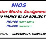 Nios online nios solved Assignment Answer sheet in...