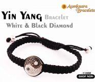 Yin Yang Bracelet White & Black Diamond