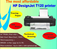 The most affordable HP DesignJet T120 printer