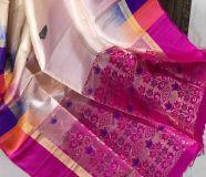 elegant Gadwal soft silk sarees with designer border...