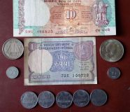 Indian old coin and currency
