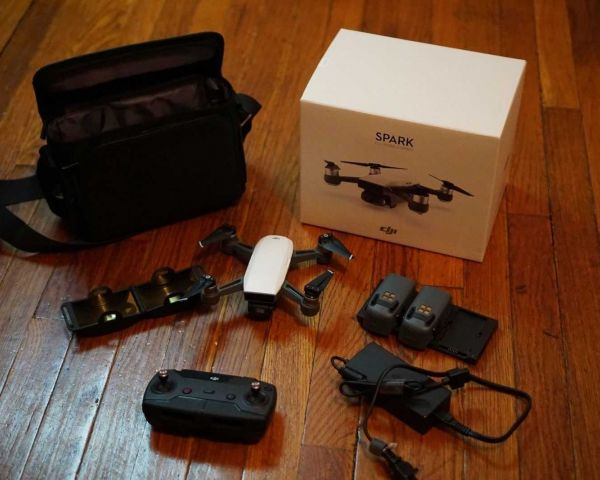 DJI Spark Intelligent Portable Mini Drone Quadcopter, Fly More Combo