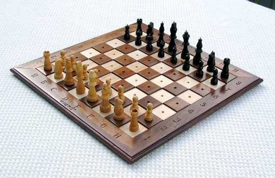 Wood Chess Set For Blind In Braille For Blind Toys Baby Products