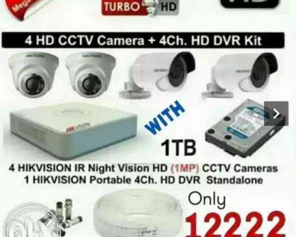 2336104e535 ₹12222 Hikvision Cctv cameras FULL HD and DVR by Supervision Security  Solutions