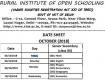 12th Class- Sr Secondary open board exam date sheet