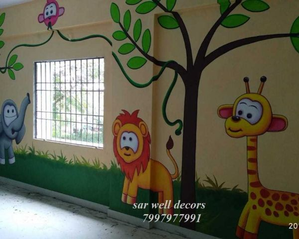 School Wall Painting Ideas In Hyderabad Arts Antiques Hyderabad