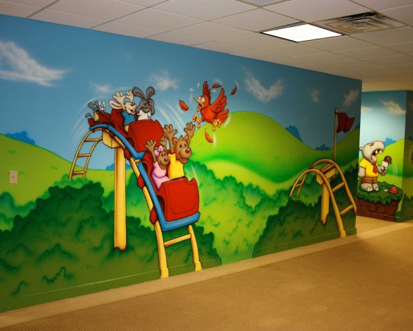 School Wall Cartoon Painting Services In Nellore