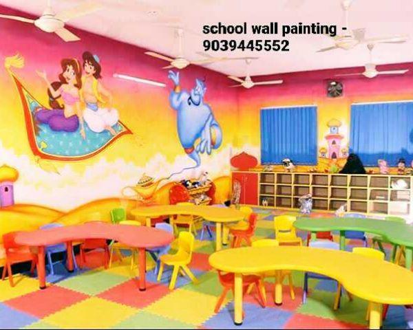 School Wall Painting Service Gwalior Nursery Class Wall Arts