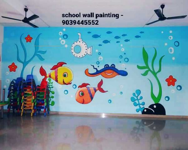 School Wall Painting Service Gwalior Nursery Class Wall Decoration