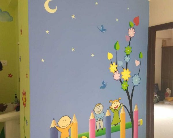 Wall Art For Kinder Garten Play School Wall Painting In Hyderabad