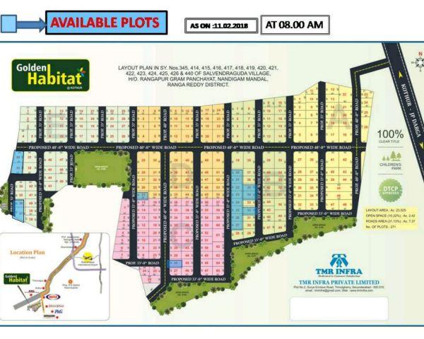 Residential In Golden Habitat Kottur Hyderabad 7 7 Lakh