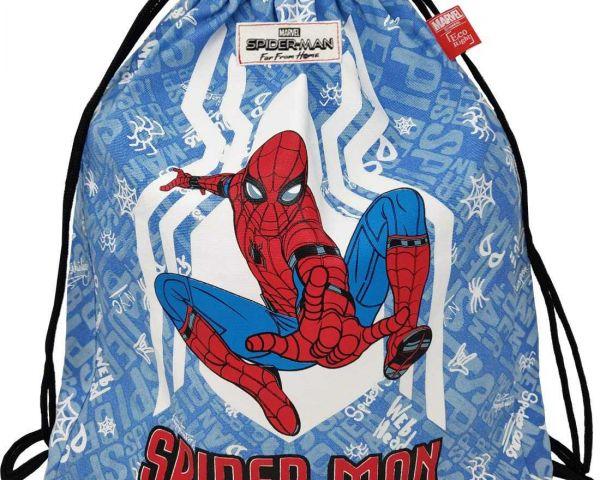 320fbdf0e9a1 EcoRight Marvel Canvas Drawstring Reusable Backpack Printed Spiderman for  Kids,Men, Women, Unisex -