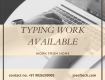 MS WORD TYPING PROJECTS IN BIJAPUR