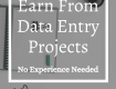 REQUIRED DATA ENTRY PROJECTS IN NOIDA