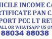 Domicile Income Certificate Pan Card Passport Services
