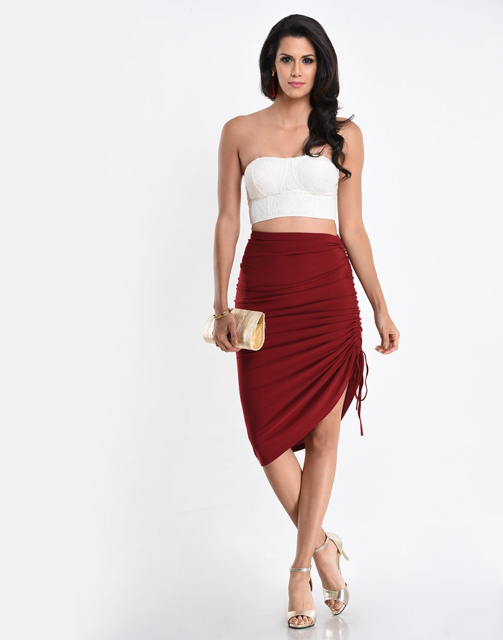 Side Gathered Skirt