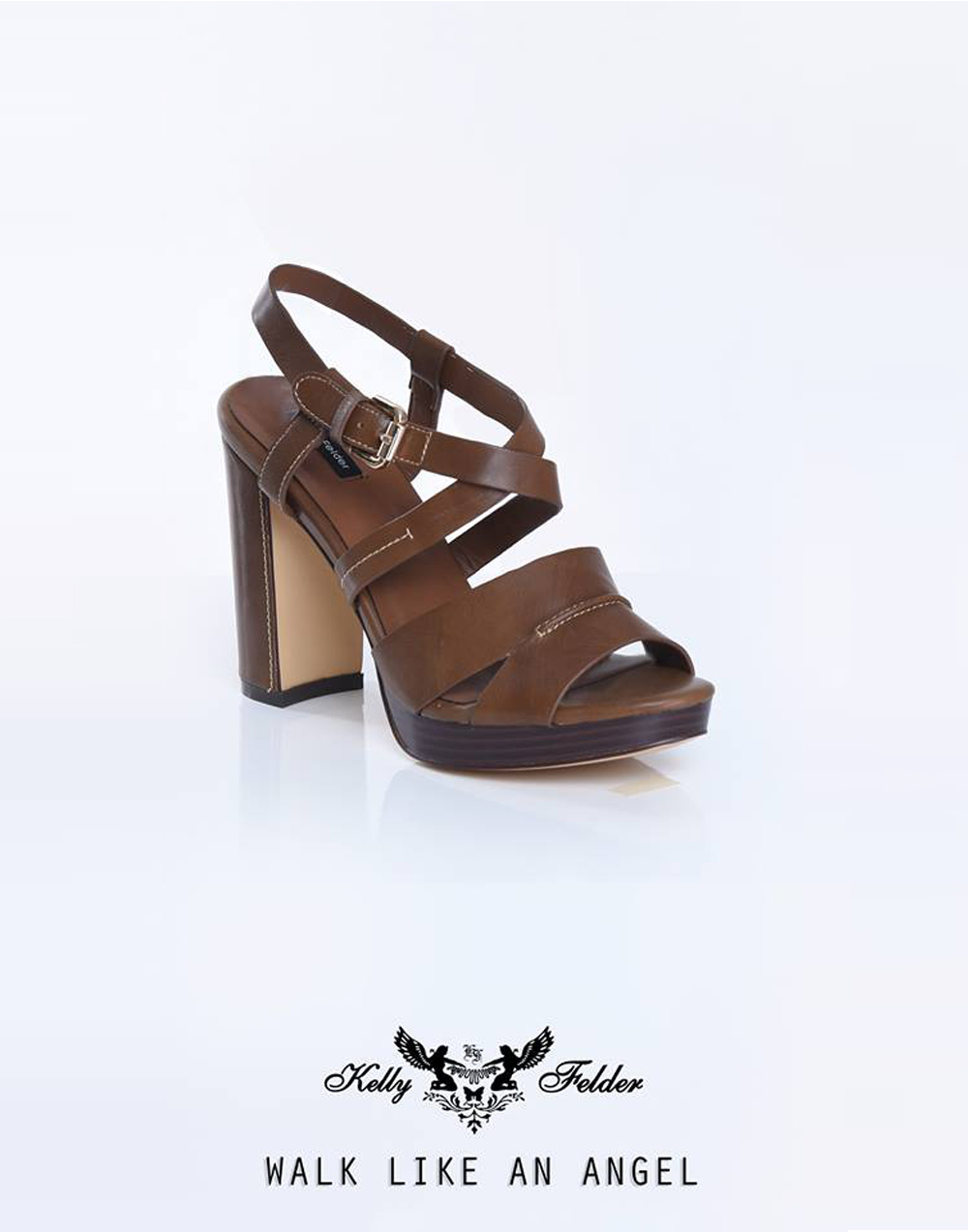 """ Seraphina "" Open-Toe Sling Back With Block Heels"