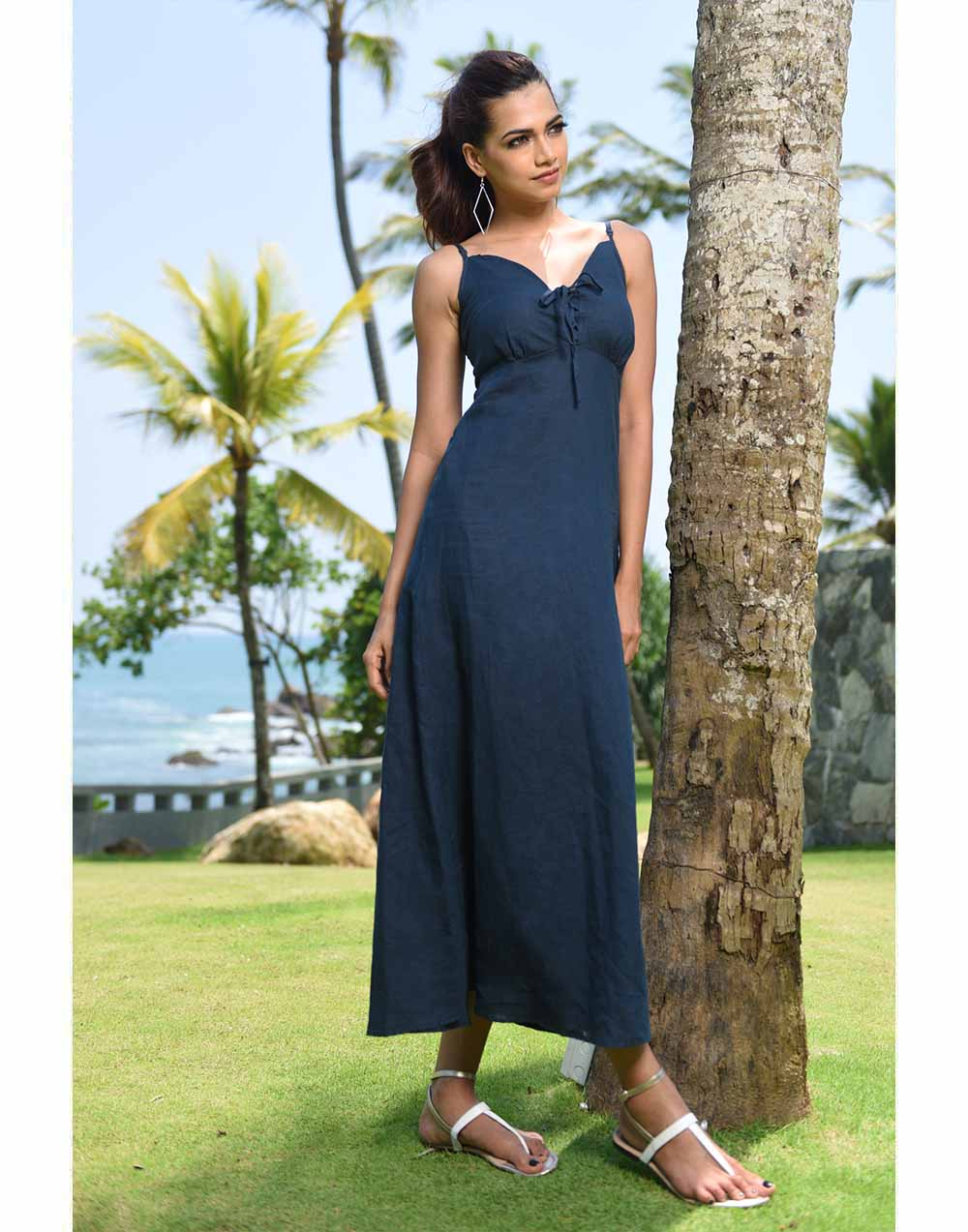 Free Casual Time Linen Dress