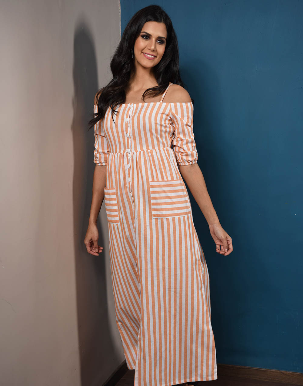 Royal Princess Linen Dress
