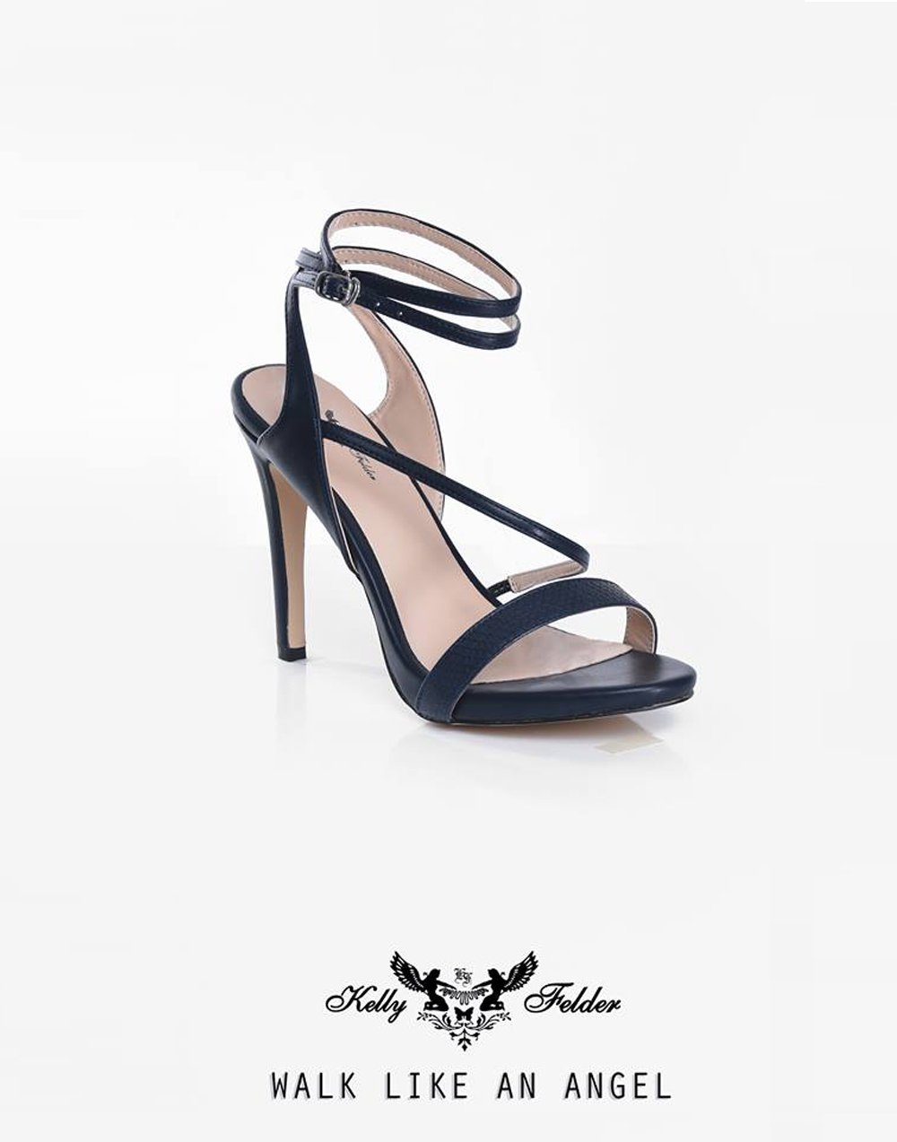 """"""" Gloria"""" Pointed Heel Sandals With Ankle Straps"""