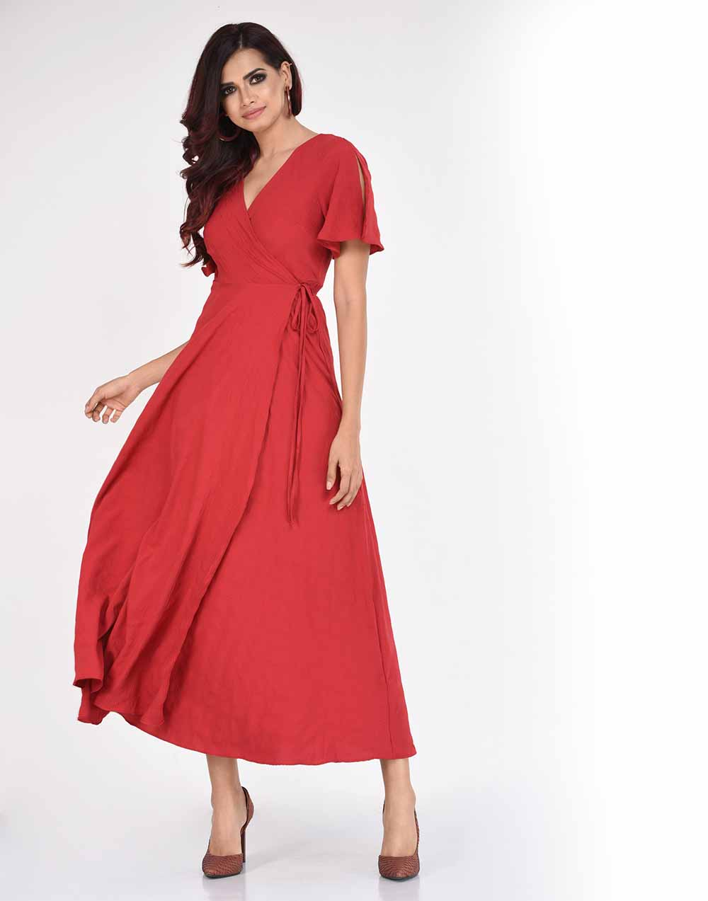 8450bece07c Casual Red Dress With Pockets - Gomes Weine AG