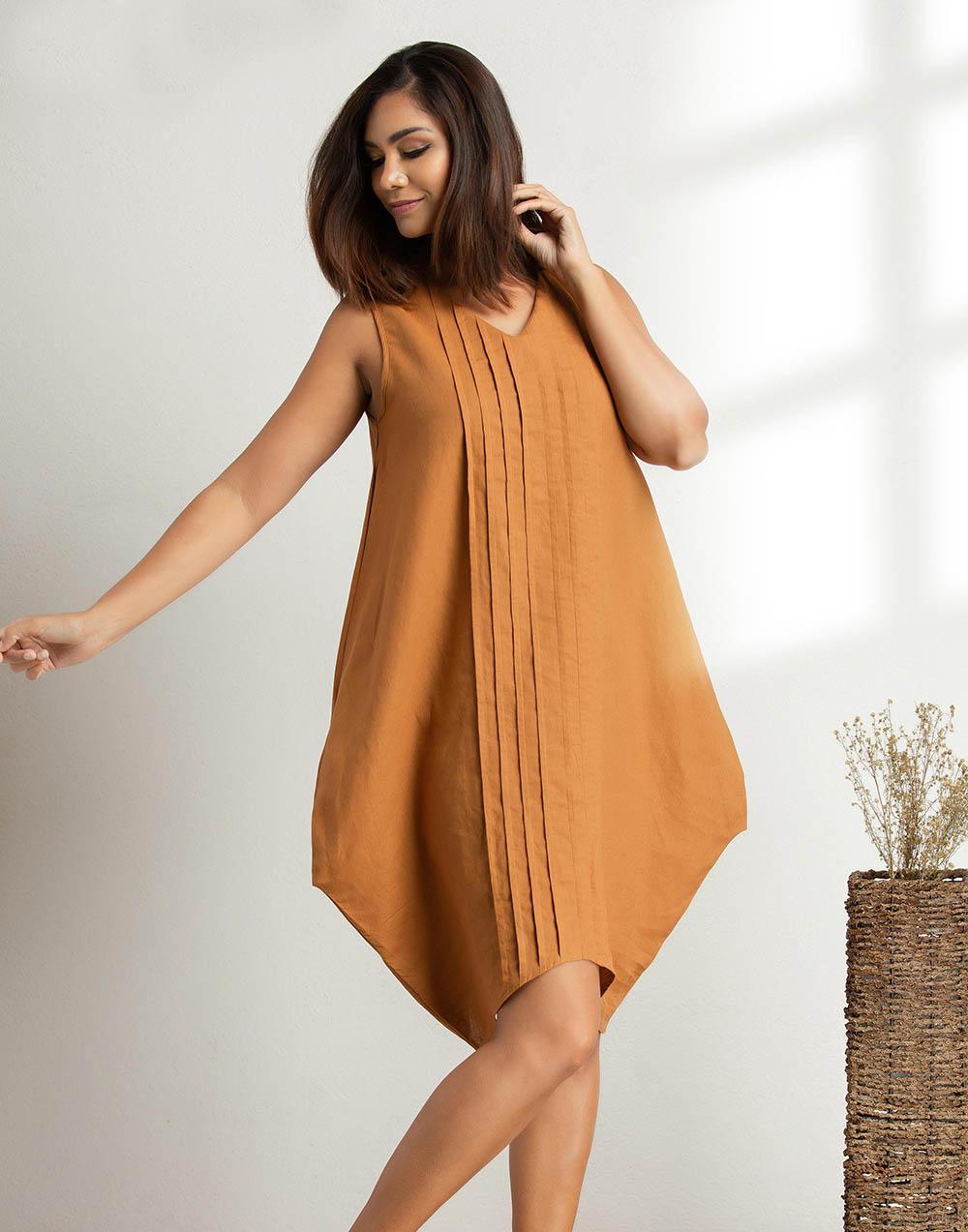 The Baloon Linen Dress